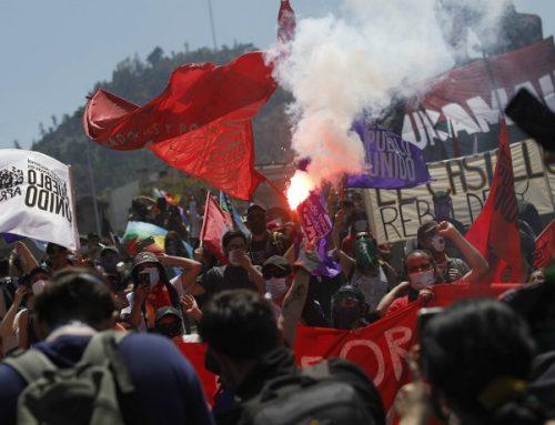 Miles de personas se han manifestado durante el día en Plaza Italia a un año del 18-O